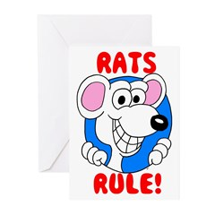 White Rats Rule Greeting Cards (Pk of 10)