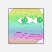 """Sad Square Sticker 3"""" x 3"""""""