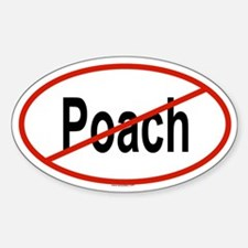 POACH Oval Decal