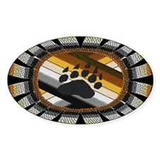 BEAR PAW PRIDE DESIGN/BLACK Oval Decal