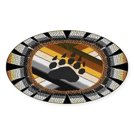 BEAR PAW PRIDE DESIGN/BLACK Oval Sticker