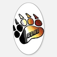 BEAR PRIDE PAW/BEAR Oval Decal