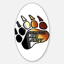 BEAR PRIDE PAW/SCRATCH/SNIFF Oval Decal