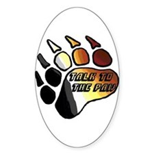 BEAR PRIDE PAW/TALK 2 THE PAW Oval Decal