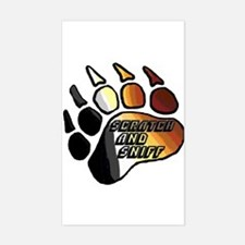 BEAR PRIDE PAW/SCRATCH/SNIFF Rectangle Decal