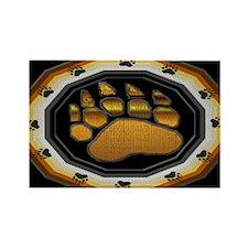 BEAR PAW IN BEAR PRIDE DESIGN Rectangle Magnet