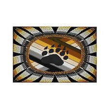 BEAR PAW PRIDE DESIGN/BLACK Rectangle Magnet