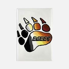 BEAR PRIDE PAW/DADDY Rectangle Magnet