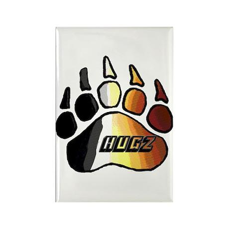 BEAR PRIDE PAW/HUGZ Rectangle Magnet
