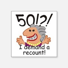 Recount 50th Birthday Funny Gray Lady Sticker