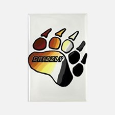 BEAR PRIDE PAW/GRIZZLY Rectangle Magnet