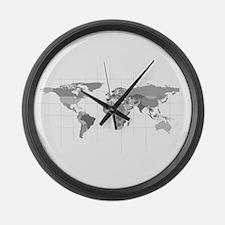 World Large Wall Clock