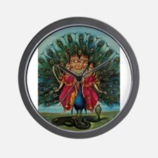 Hindu Peacock God Wall Clock