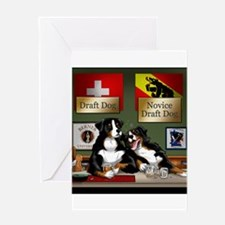 Draft Dogs Greeting Cards