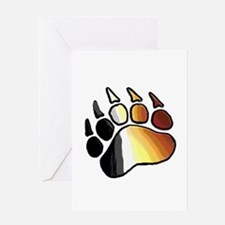BEAR PRIDE PAW2/TONES/WOOF Greeting Card