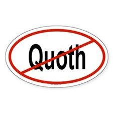 QUOTH Oval Decal