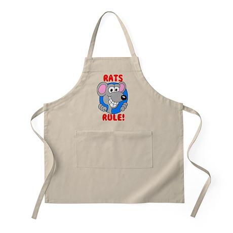 Gray Rats Rule BBQ Apron