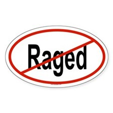 RAGED Oval Decal