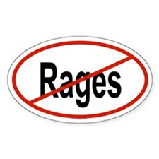 RAGES Oval Decal
