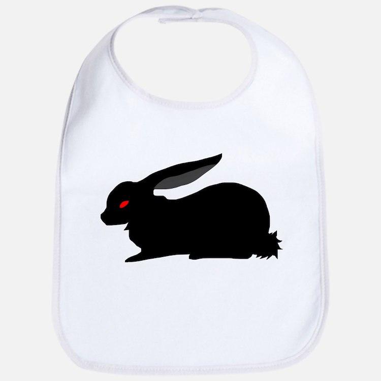Black Rabbit Baby Bib