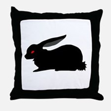 Black Rabbit Throw Pillow