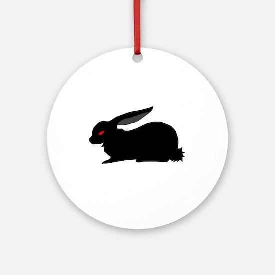 Black Rabbit Round Ornament