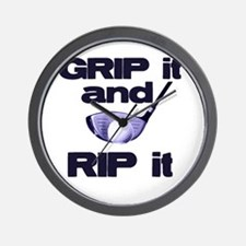 Grip it and Rip it Wall Clock