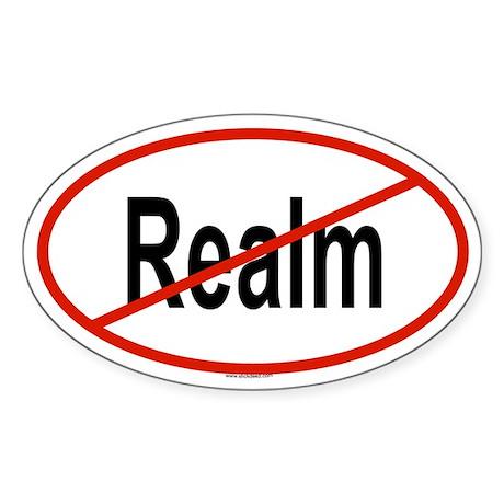 REALM Oval Sticker