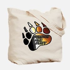 BEAR PRIDE PAW/SCRATCH/SNIFF Tote Bag