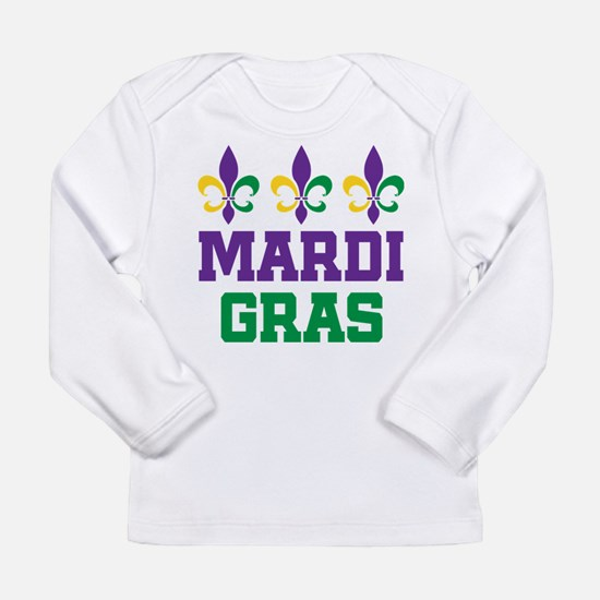mardi gras trio w words Long Sleeve T-Shirt
