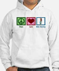 Peace Love Belly Dancing Hoodie