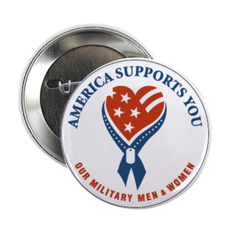 """Support Our Troops 2.25"""" Button (10 pack)"""