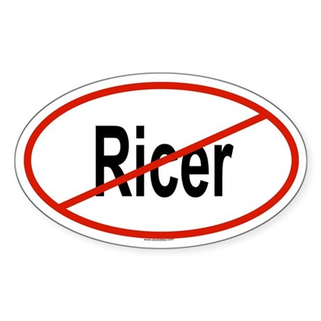 RICER Oval Sticker