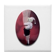 Ballerina with Teddy Bear Tile Coaster