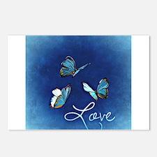 Love & Butterflies (B Postcards (Package of 8)