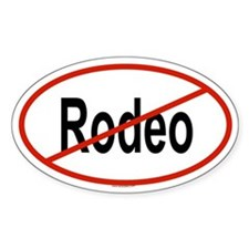 RODEO Oval Bumper Stickers