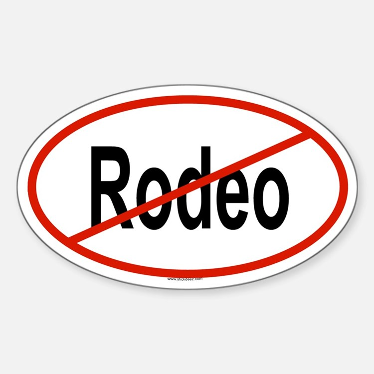 RODEO Oval Decal