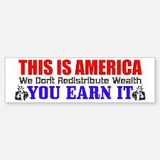 """This Is America"" Bumper Car Car Sticker"