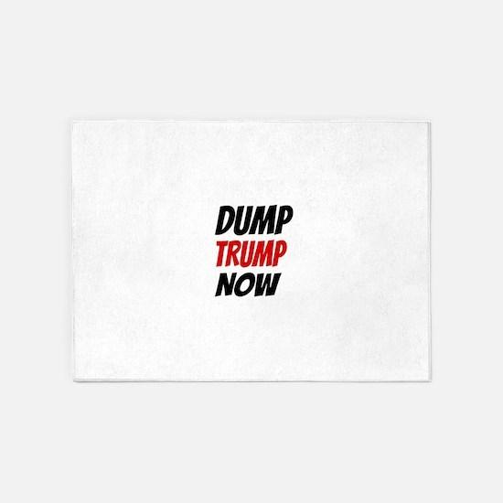 DUMP TRUMP NOW 5'x7'Area Rug