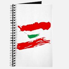 Lebanese Flag Brush Journal