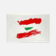 Lebanese Flag Brush Rectangle Magnet