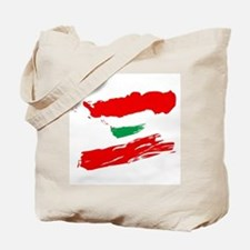 Lebanese Flag Brush Tote Bag
