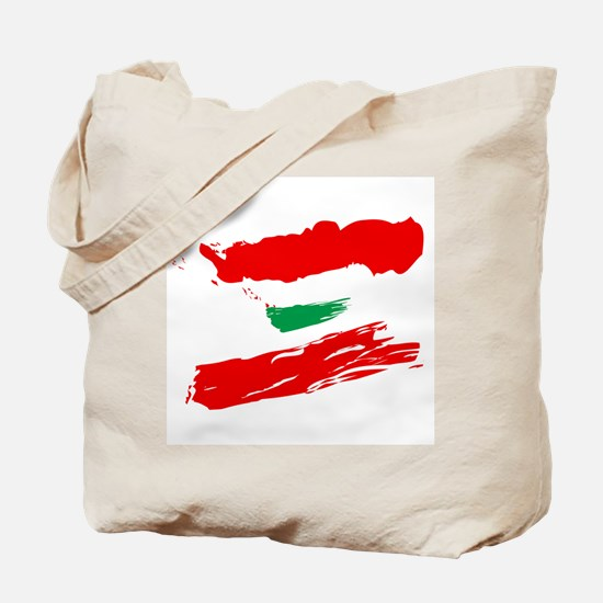 Lebanese Flag Brush Tote Bag