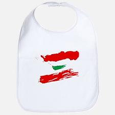 Lebanese Flag Brush Bib