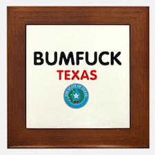 BUMFUCK - TEXAS Framed Tile