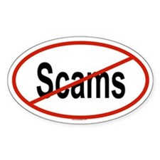 SCAMS Oval Decal