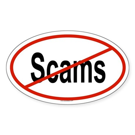 SCAMS Oval Sticker