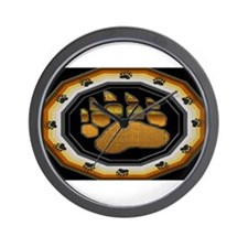 BEAR PAW IN BEAR PRIDE DESIGN Wall Clock