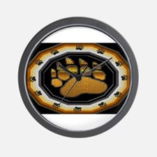 BEAR PAW IN BEAR PRIDE DESIGN Wall Clock