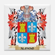 Alonso Coat of Arms - Family Crest Tile Coaster